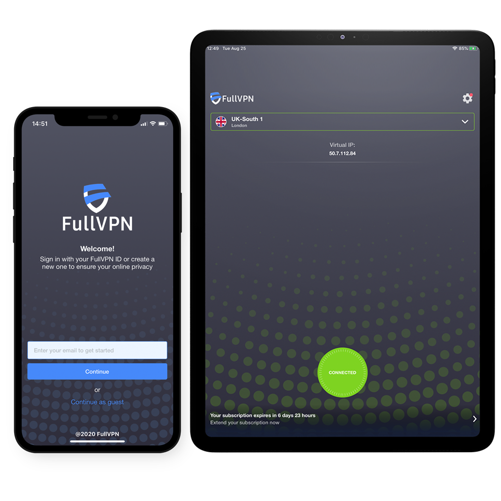 FullVPN iOS iPhone iPad