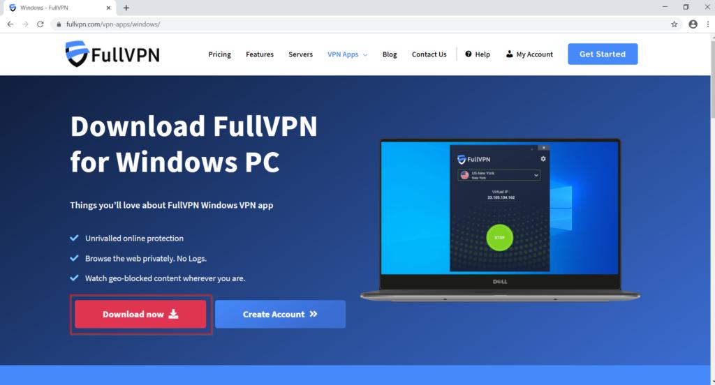 FullVPN Windows Download Page