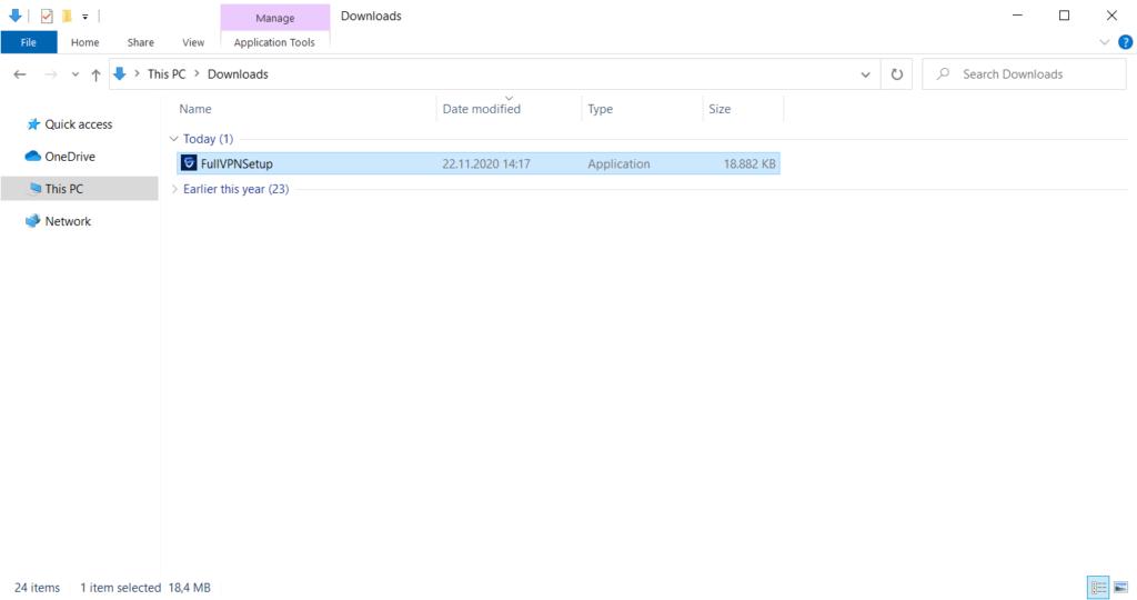 FullVPN Windows Setup 2