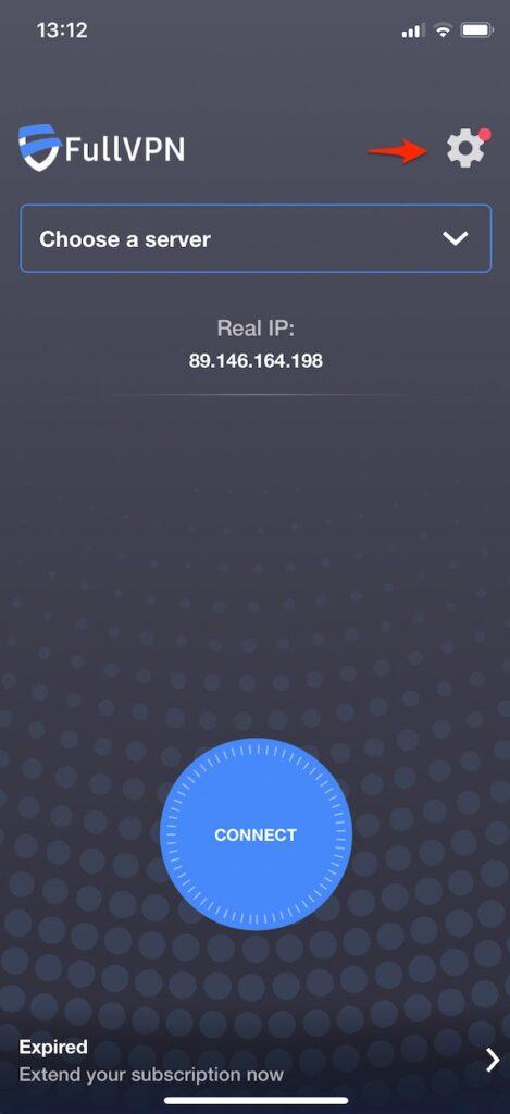 fullvpn iphone ipad settings