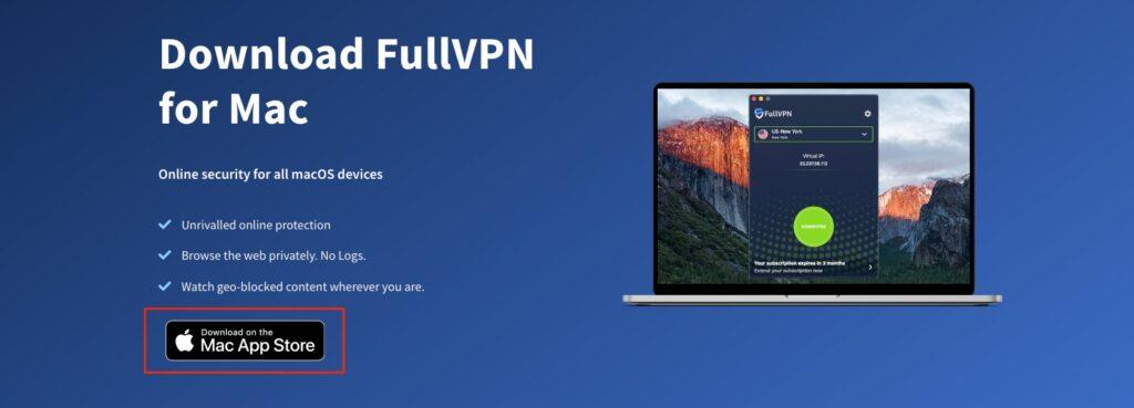 fullvpn macos setup downloads page